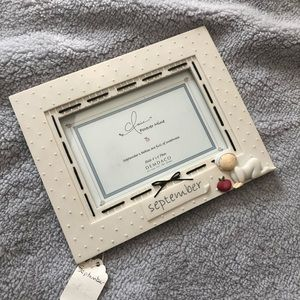 September baby picture frame